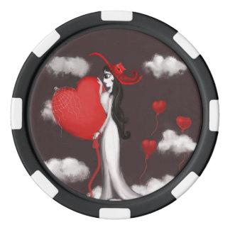 Liefde en valenitne pokerchips