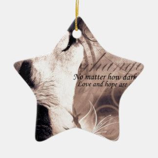 liefde en van de Hoop Siberische schor Keramisch Ster Ornament