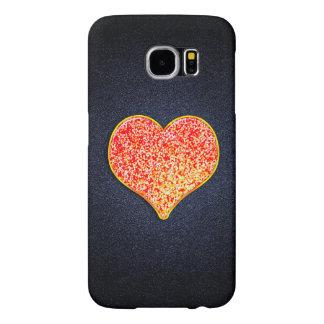 LIEFDE - Glanzend Roze goud - Melkweg S6, Samsung Galaxy S6 Hoesje