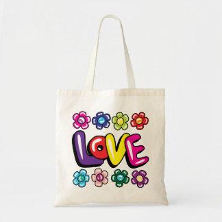 Liefde & het Bolsa van Bloemen Budget Draagtas