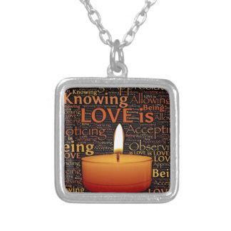 Liefde, het citaat van de Kaars Zilver Vergulden Ketting