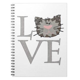 Liefde, het Grijze Notitieboekje van het Gezicht Ringband Notitieboek