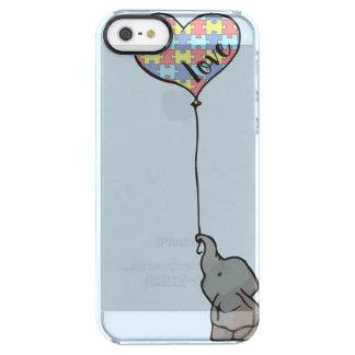 Liefde - het Stuk van het Raadsel - Olifant - het Doorzichtig iPhone SE/5/5s Hoesje