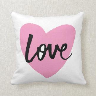 Liefde - het van letters voorzien van de Borstel Sierkussen