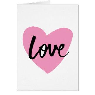Liefde - het van letters voorziende Wenskaart van