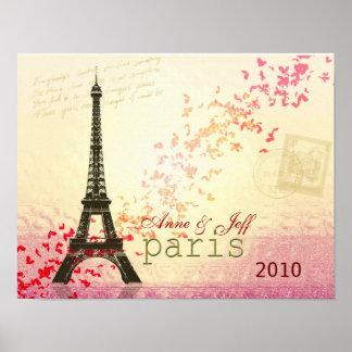 Liefde in de Toren van Parijs Eiffel Poster