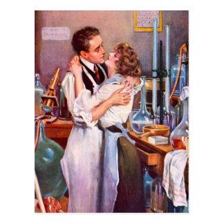 Liefde in het Laboratorium Briefkaart