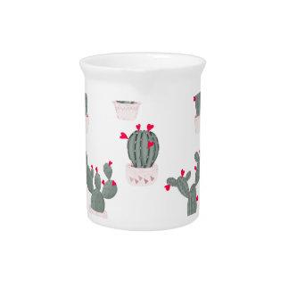 Liefde in het Patroon van de Cactussen van de Drank Pitcher