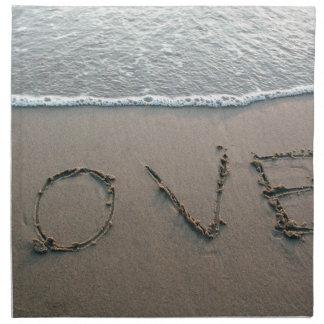 Liefde in het Zand Katoenen Servet