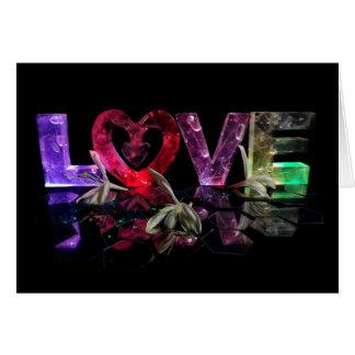 Liefde in Lichten met kamperfoelie Briefkaarten 0