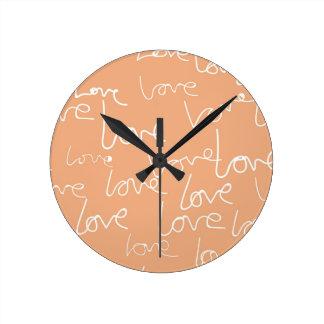 liefde krabbels ronde klok
