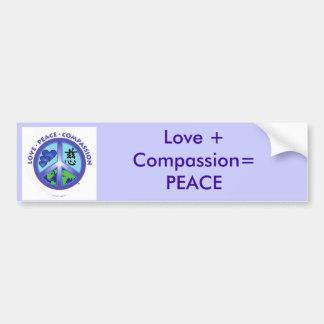 Liefde + Medeleven = de sticker van de Bumper van