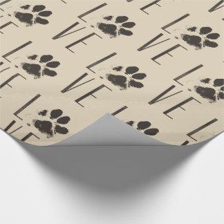 Liefde met het Bruine Patroon van de Druk van de Inpakpapier