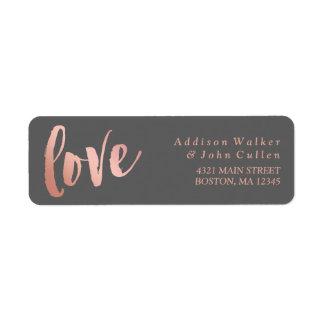 Liefde | nam de Gouden & Grijze Naam van de Douane Etiket