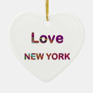 LIEFDE New York New York Keramisch Hart Ornament