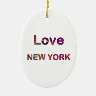 LIEFDE New York New York Keramisch Ovaal Ornament