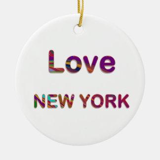 LIEFDE New York New York Rond Keramisch Ornament