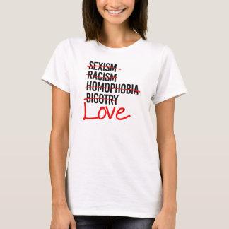 Liefde - Nr aan het Seksisme Homophobia van het T Shirt