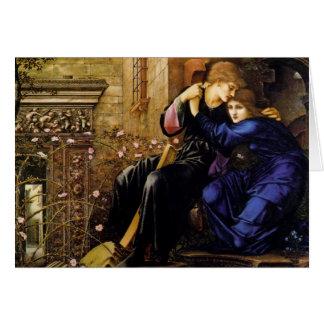 Liefde onder de Kaart van ruïnes Pre-Raphaelite