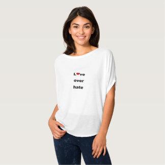 Liefde over haat t shirt