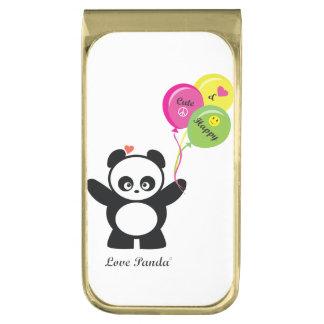 Liefde Panda® Vergulde Geldclip