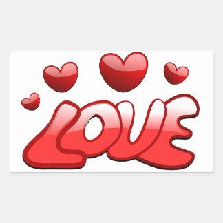 Liefde Rechthoekige Sticker