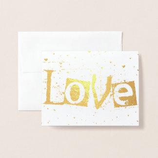 liefde regenende harten folie kaarten