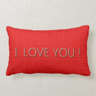 Liefde-rood-hete (c) Lumbale & Vierkante Grootte Lumbar Kussen
