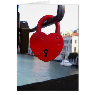 liefde slot in Venetië Wenskaart