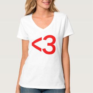 liefde symbool t shirt