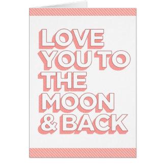 Liefde u aan de Maan & de Rug Kaart