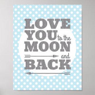 Liefde u aan de Maan en het AchterPoster van het Poster