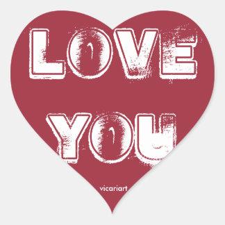 Liefde u de Sticker van het Hart