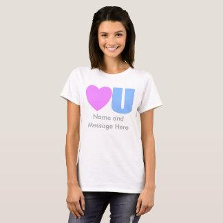 Liefde u de T-shirt van het Bericht voor haar