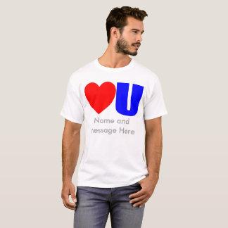 Liefde u de T-shirt van het Bericht voor hem