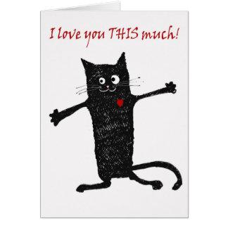 Liefde u, gekke kat, humeur briefkaarten 0