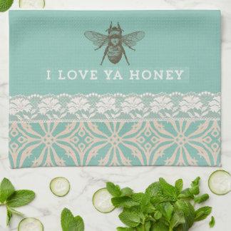 Liefde u Handdoek van de Keuken van de Honing de