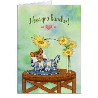Liefde u sooo veel - Muis in het Rusten van de Kop Briefkaarten 0