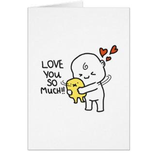 Liefde u zo veel Kaart van Valentijn