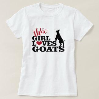 LIEFDE   van de GEIT Dit Meisje houdt van het Baby T Shirt