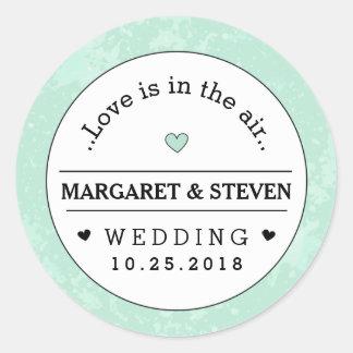 Liefde van de Namen van de Douane van het Huwelijk Ronde Stickers