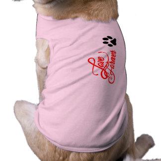 Liefde van de Tanktop van Doggie de Geribbelde Shirt