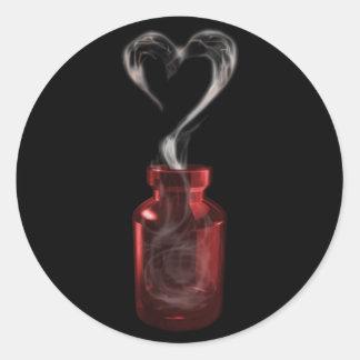 liefde vergift ronde sticker