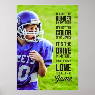 Liefde voor het Poster van het Spel met Uw Foto
