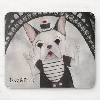 Liefde, Vrede en Parijs Mousepad Muismatten