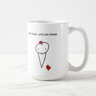 Liefde, Vrede, en Roomijs Koffiemok