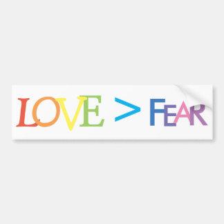Liefde > Vrees Bumpersticker