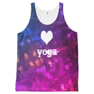 liefde yoga All-Over-Print tank top