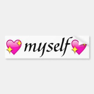 liefde zelf bumpersticker