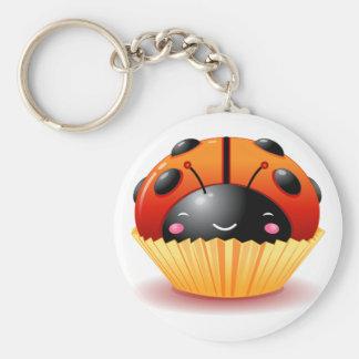 Lieveheersbeestje Cupcake Keychain Basic Ronde Button Sleutelhanger